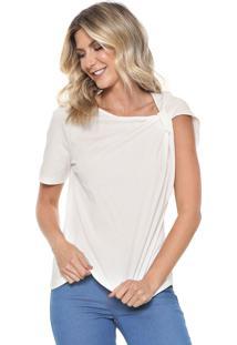 Camiseta Colcci Assimétrica Branca