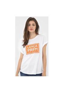 Camiseta Lança Perfume Lettering Neon Branca