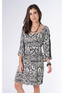 Vestido Mercatto Malha Estampada - Feminino