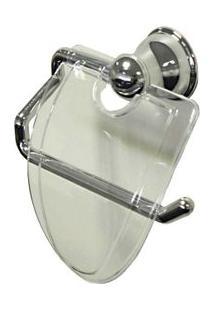 Porta Papel Higiênico Cromado Mondo Cristal Aquaplás