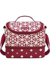 Bolsa Térmica Geométrica- Vermelha & Branca- 23X19,5Jacki Design