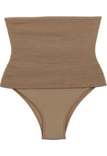 Calcinha Fio Cinta Modeladora Dukley Lingerie Plus Size Feminina - Feminino-Nude