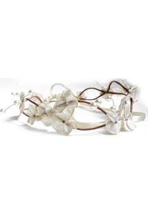 Headband Fuxicos & Frescuras Coroa De Fada Dupla Off White