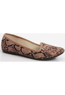 Sapatilha Feminina Slipper Animal Print Moleca
