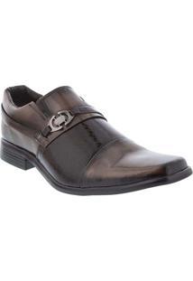 Sapato Social Valença Verniz Marrom Marrom