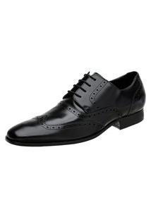 Sapato Oxford Masculino Malbork Em Couro Preto 60050 Preto