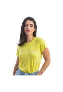 T-Shirt Manga Curta Amarelo
