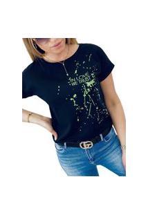 Camiseta Estampa Egoiste Preto