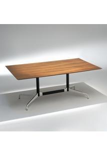 Mesa De Jantar Segmentada 2 Colunas Alumínio Polido E Aço Pintura Preta Studio Mais Design By Charles E Ray Eames
