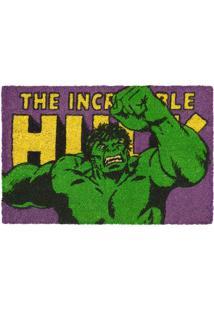 Capacho Hulkâ®- Verde & Roxo- 1,5X61X41Cm- Mabrukmabruk