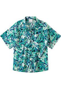 Camisete Azul Tropical Digital