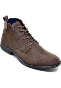 Bota Dress Boot Masculina Eco Canyon Broklin Suede Marrom Brown