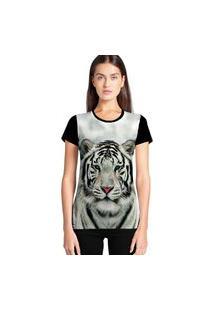 Camiseta Feminina Ramavi Tigre Manga Curta