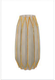 Vaso Decorativo Udyr Fendi E Dourado 14 Cm