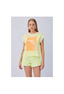 T-Shirt Boto Listras Amarela Ref: 502Ts002323 00955 T-Shirt Boto Listras Amarela Ref: 502Ts002323 00955 - P - Amarelo Lança Perfume
