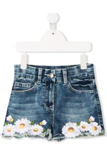 Monnalisa Shorts Jeans - Azul