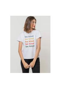 Camiseta Jay Jay Basica Be Kind Branca Dtg