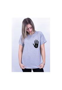 Camiseta Bilhan Corte A Fio Mão Pqn Cinza