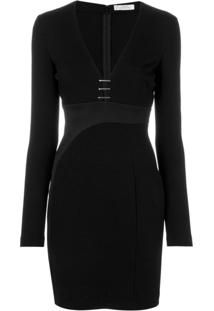Versace Collection Vestido Com Decote Profundo - Preto