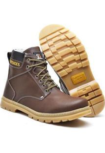 Bota Masculina Adventure Snap Shoes - Masculino-Marrom