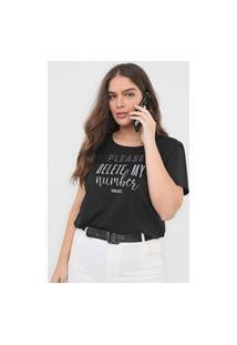 Camiseta Colcci Delete My Number Preta