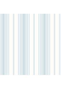 Papel De Parede Coleção Bambinos Azul Branco Listras 3362 Bobinex