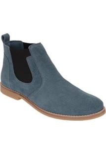 Bota Em Couro D&R Shoes Masculina - Masculino-Azul