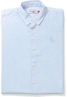 Camisa Mini Pf Mc Oxford Color Reserva Mini Azul