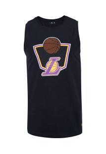 Camiseta Regata New Era Los Angeles Lakers Essentials - Masculina - Preto