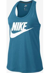 Camiseta Regata Nike Sportswear Essentials Hibrid Feminina ea432fc42056a
