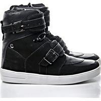 bce76d2dc57e4 Netshoes. Tênis Sneaker Rock Fit Cano Alto Couro - Feminino