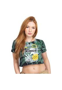 Camiseta Cropped Kings Sneakers Tie Dye Fresh Verde - G
