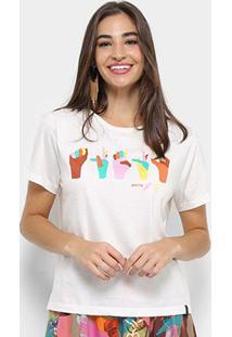 Camiseta Cantão Estampada Libras Feminina - Feminino