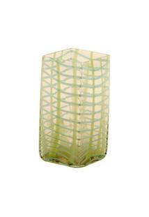Vaso De Vidro Decorativo Ligth Green Pequeno - Unissex