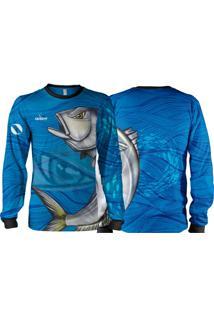 Camisa Pesca Quisty Anchova Valente Proteção Uv Dryfit Infantil/Adulto - Kanui