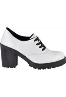 Oxford Tratorado Verniz World Boot Feminino - Feminino-Branco