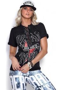 Camiseta Dream Tour Rock Code Feminina - Feminino-Preto