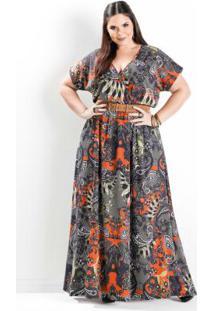 Vestido Longo Cashmere Plus Size