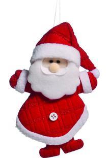 Enfeite De Papai Noel Para Pendurar- Vermelho & Branco