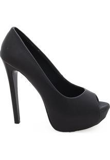 276862262 Sapato Peep Toe Feminino De Salto Alto - Feminino