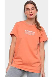 Camiseta Colcci Sustentável Feminina - Feminino-Laranja