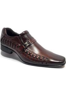 Sapato Social Rafarillo Couro Las Vegas - Masculino-Marrom
