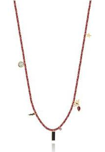 Colar Capri Beads Oa/Rodolita/Ametist/Qt.Negro/Prasiolita
