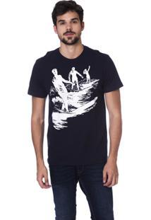 Camiseta Long Island Waves Masculina - Masculino-Marinho a07320f9678