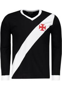 Camisa Retrômania Vasco 1948 Manga Longa Masculina - Masculino 6a6ea543abecd