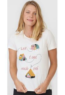 Camiseta Cantão Barraco Off-White - Kanui