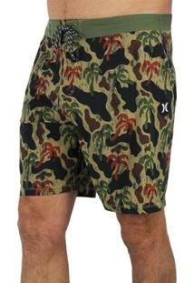 Bermuda Hurley Phantom Schofield Army Masculina - Masculino-Verde
