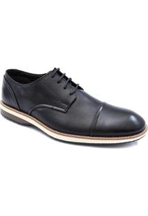 Sapato Social Pisaforte Premium Conforto Masculino - Masculino-Preto