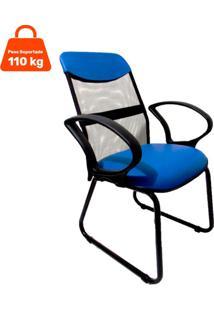 Cadeira De Escritório Diretor Costaneira Soft Azul