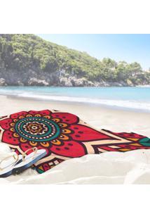 Toalha De Praia / Banho Mandala Red One
